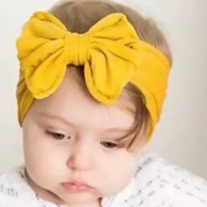 New Girls Baby Bow Headband In Gold